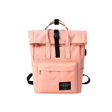Women Canvas Backpacks Waterproof Zipper Teenagers Girls School Bags Big Cute Laptop Backpack Patchwork Kawaii Travel Backpack
