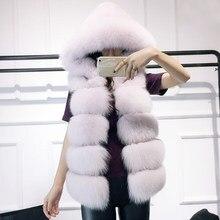 Faux Fur Vest with Hood Kaufen billigFaux Fur Vest with Hood