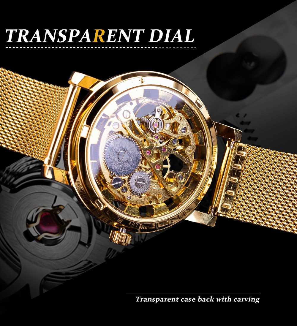 HTB1c9rpB5CYBuNkSnaVq6AMsVXa4 Winner Thin Case Full Golden Design Retro Openwork Clock Mesh Band Men's Mechanical Watches Top Brand Luxury Luminous Hands