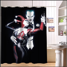 Joker and Harley Quinn Dance Custom Design Bath Waterproof Shower Curtain Bathroom Products Curtains 48×72, 60×72, 66x 72 inches