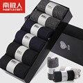 Happy socks marca meias de algodão dos homens de inverno no cilindro engraçado Quatro Estações tubo curto homens de negócios 100% algodão odor 6 peças