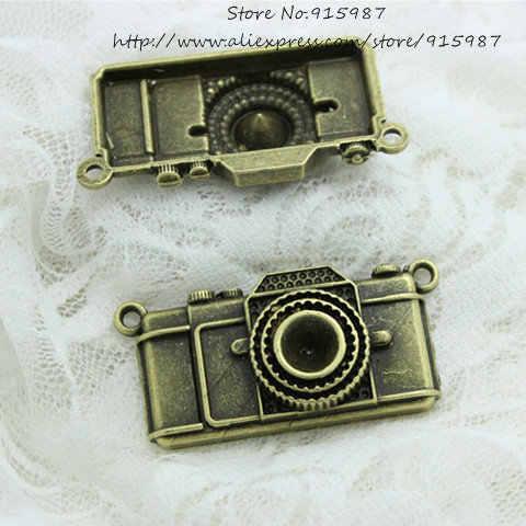 Doce Sino 5 pçs/lote 10*27*56mm Antique Bronze Liga de Metal Big Camera Charme Encantos Jóias Pingente D0593