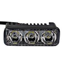 2Pcs 6 LED Bulbs Waterproof Car DRL Daytime Running Lights DC 12V Automobiles Fog Lamps Car