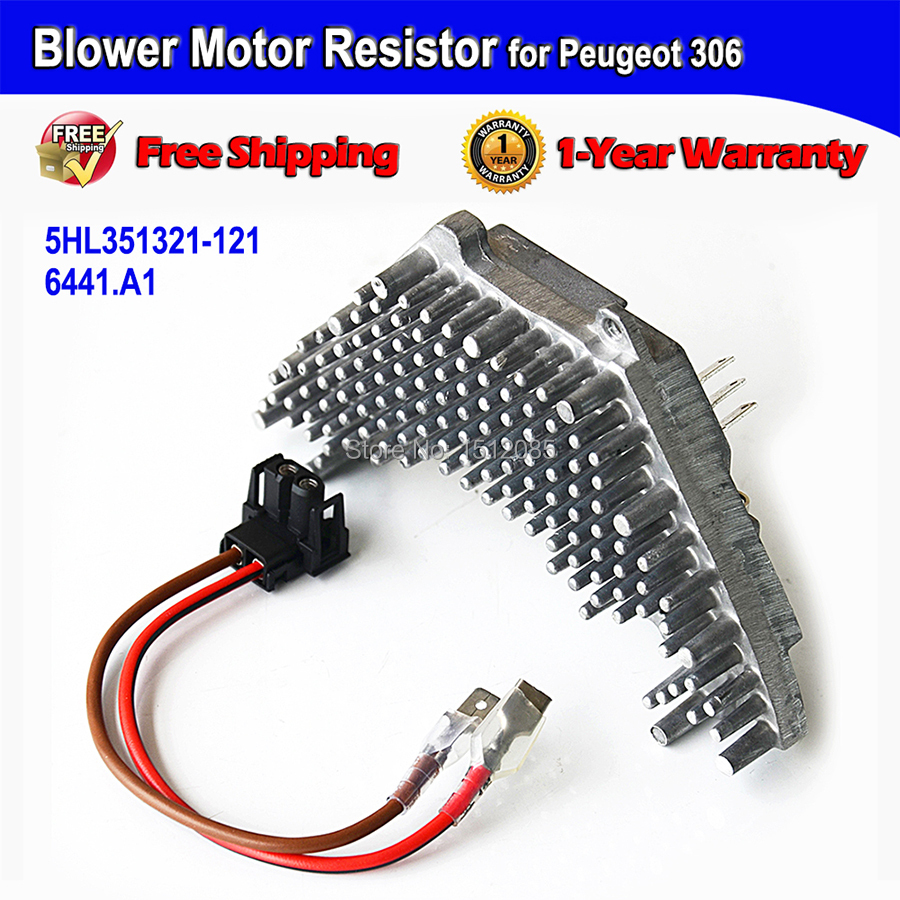 FAST SHIPPING Blower Motor Resistor + Wire Harness for Peugeot 306 ...