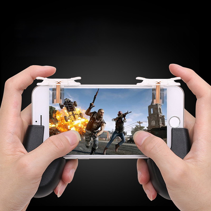 1pair L1R1 Gaming Trigger Invisible Fire Button Aim Key Smart Phone Gam