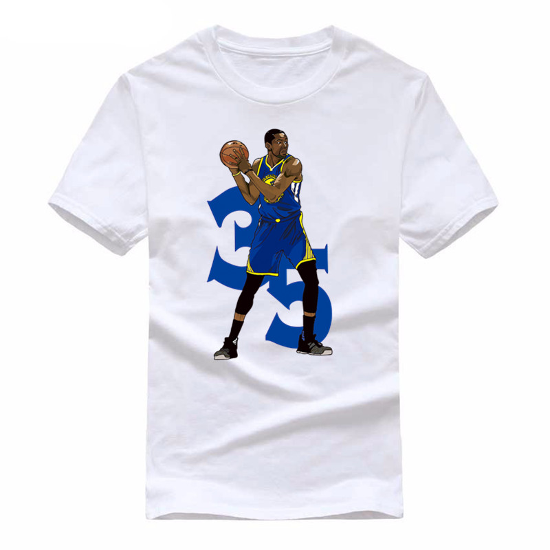 2019 Fashion Kevin Durant T <font><b>Shirt</b></font> Men Print <font><b>KD</b></font> T-<font><b>shirt</b></font> Summer Short Sleeve Modal Cotton Men Casual T <font><b>Shirts</b></font> Top Tee Tracksuit image
