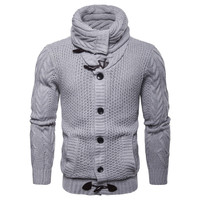 Newest Design Cardigan Knitwear Europe and America Single Breasted Sweatercoat Men Autumn Button Elastic Knitted Sweater Male