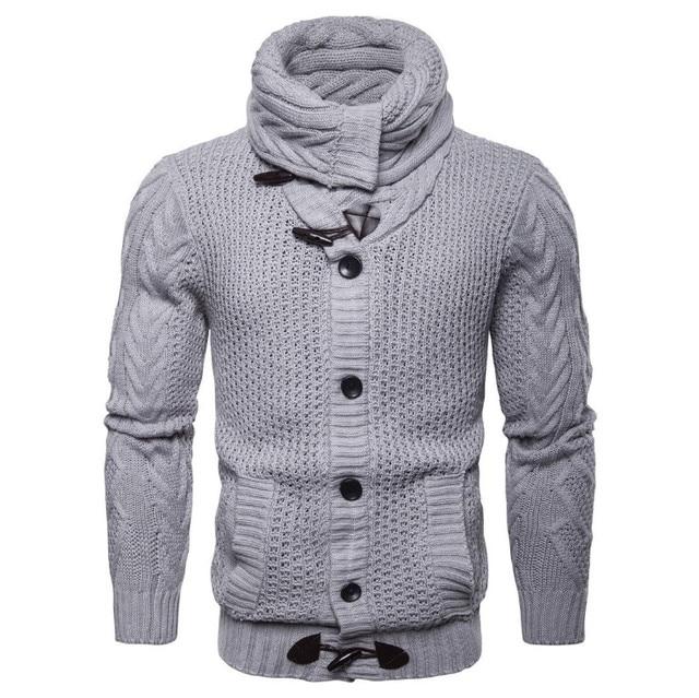 057a90584 Projeto o mais novo a Europa e América Do Único Breasted Sweatercoat  Cardigan Malhas Dos Homens