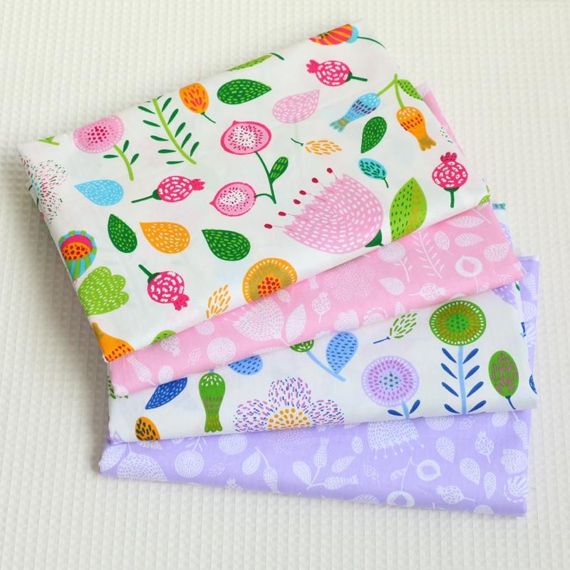 Zakka katoen stof Japanse stijl roze paarse bloemenprint stoffen voor - Kunsten, ambachten en naaien