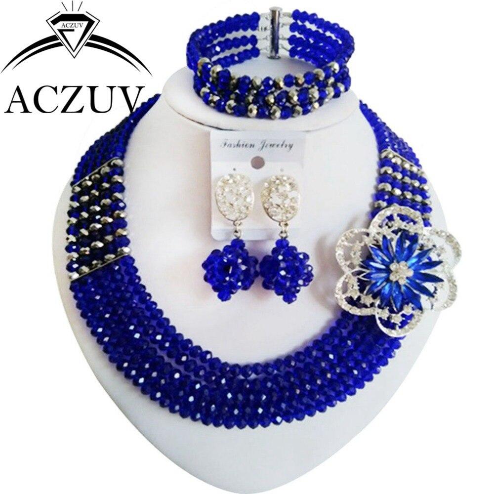 Нигерийские Свадебные африканские Бусины Ювелирные изделия из кристаллов набор an010