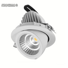 1PCS Dimmable LED Downlight 12W 20W 30W Adjustable 360 COB Led Light Warm Natural Cold White Trunk Ceiling AC85-265V