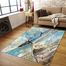 High Quality Abstract Flower Art Carpet For Living Room Bedroom Anti-slip Floor Mat Fashion Kitchen Area Rugs