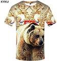 KYKU Marke Russland T Hemd Männer Russische Flagge T-shirt Bär Hemd 3d T-shirt Herren Kleidung Fitness T-shirt Rock Hip Hop 2017 t Tops