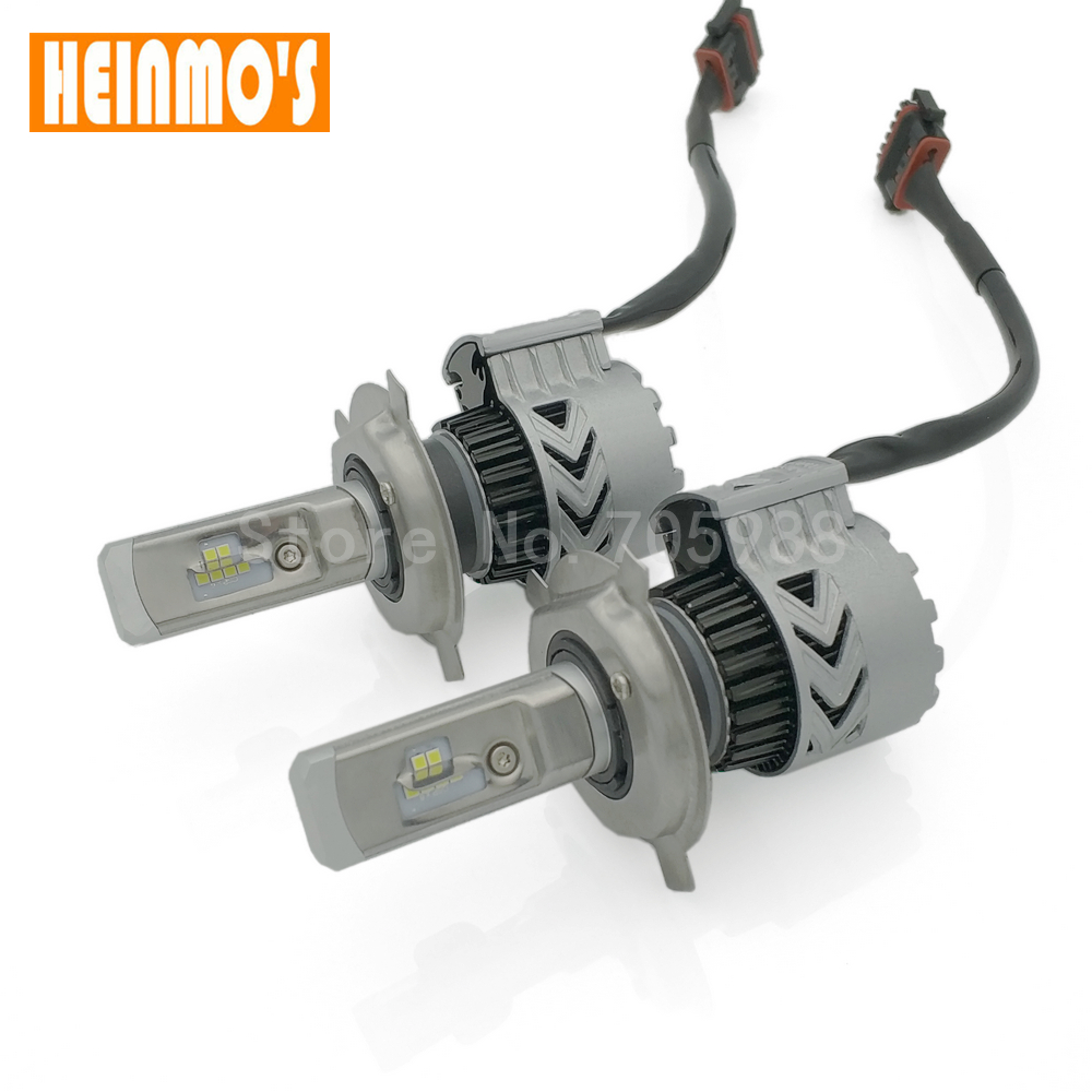H4 COB LED H1 Car Headlight Bulbs H7 H8 H9 H11 Auto Headlamp Fog Light 9005 9006  Hi-Lo Beam 6000lm 6000K DC12v 24v