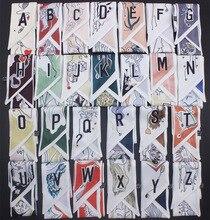 Designer 26-letter Japanese printed twill silk women scarves handbag ribbon small long scarf for hairbands tie