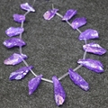 15.5''/ strand Titanium Quartz Crystal Stick Beads Pendants 1Strand Top Drilled Raw Crystals Gems Loose Spike Point Necklace