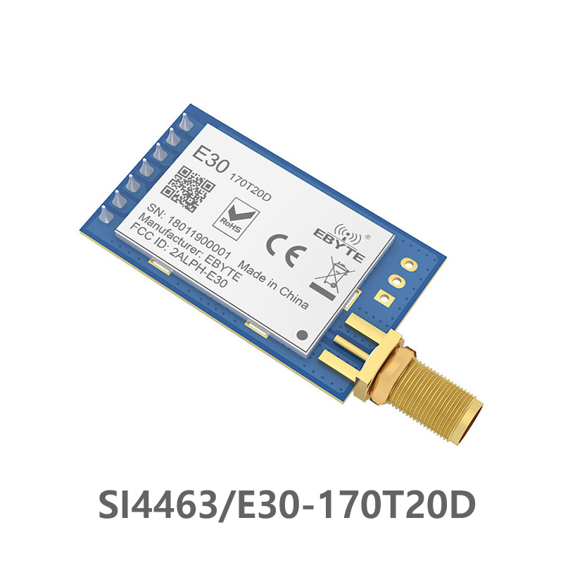 SI4463 170MHz TCXO 100mW E30 170T20D Long Distance rf module Module IoT UART Serial Port Wireless Transmitter and Receiver-in Fixed Wireless Terminals from Cellphones & Telecommunications