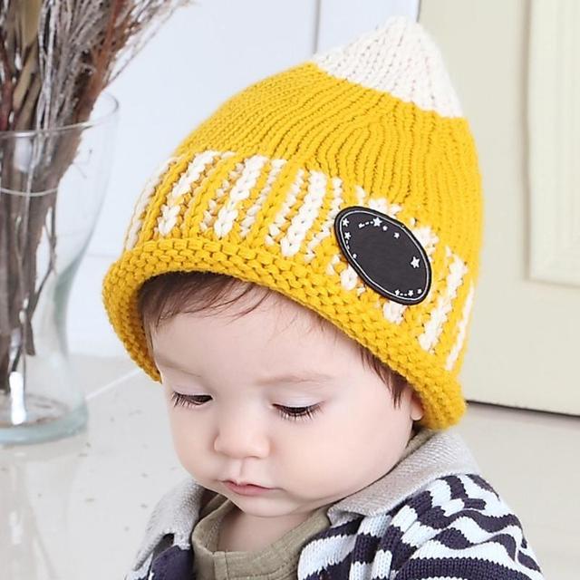 0f2209e24aa Stylish Pacifier Shape Baby Boys Girls Cap Beanies Cute Wool Knitted Winter  Warm Hat Crochet Headwear Infant Knitting Cap