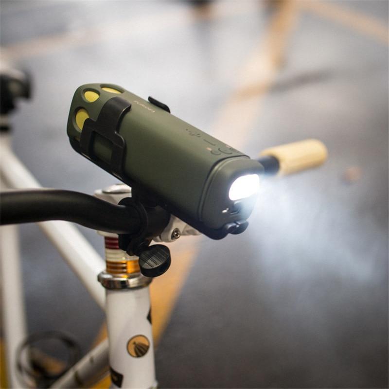 Bike Lamp 3in1 Portable Bluetooth Car Audio Mini Speaker Mobile Power 8000 Ma Charging Treasure Flashlight new 12 14 mini folding bike for 110 180cm height man mini brand travel bicycle on car subway bicicleta 3in1 bmx portable bike