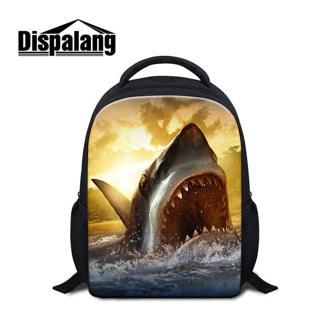 3D Shark Backpack School For Boys Dolphin Animal Printing Kids Kindergarten  Schoolbags Child Backpacks Girl 12