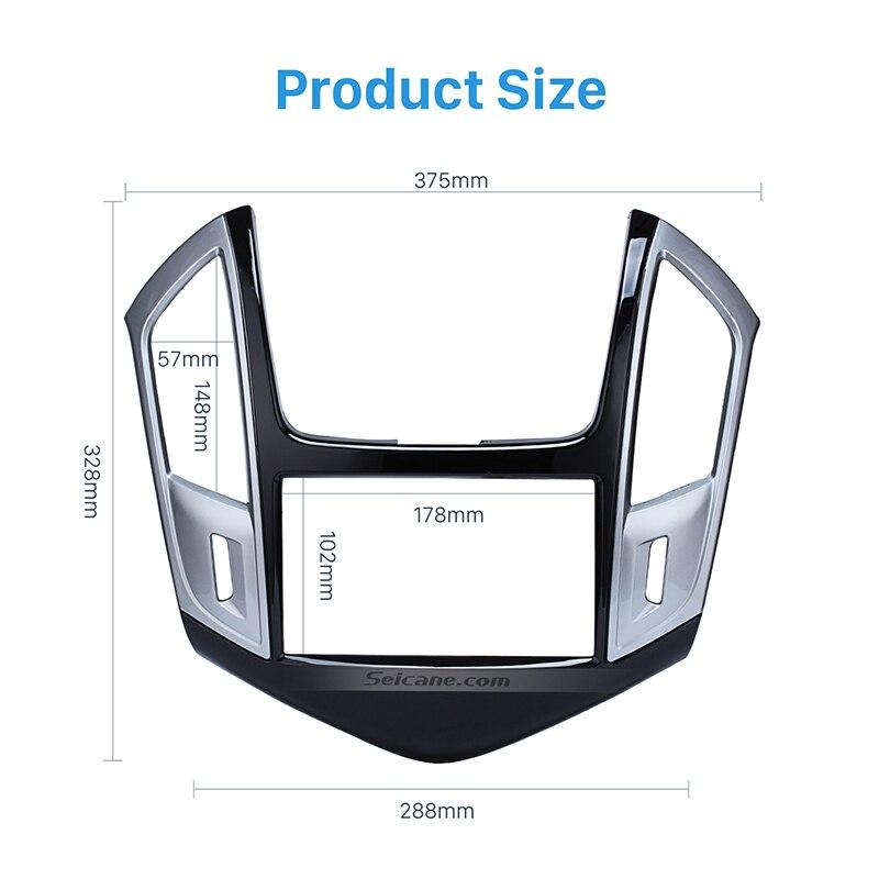 Seicane 2 DIN Voiture Radio Fascia Dash Mount Kit Cadre Adaptateur pour 2013 Chevrolet Cruze Auto Radio Panneau installation