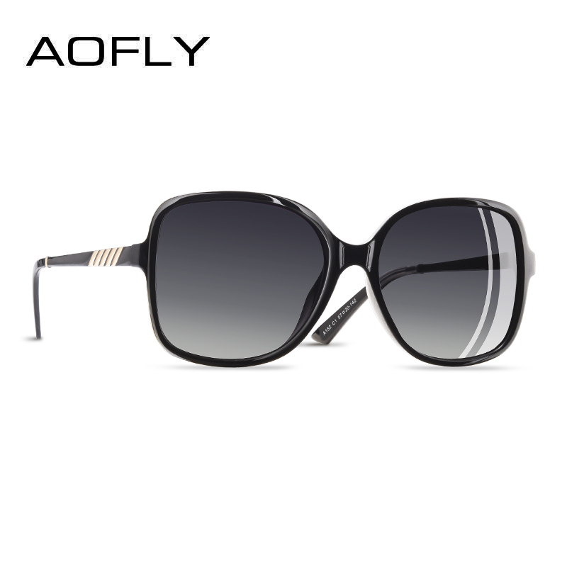 Image 1 - AOFLY Brand Design Elegant Sunglasses Women Oversized Frame Polarized Ladies Sun Glasses UV400 Eyewear Goggle Gafas De Sol A152-in Women's Sunglasses from Apparel Accessories
