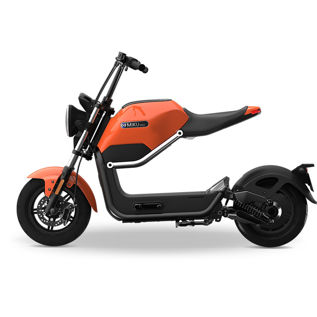 Hcgwork Sunra Miku Classic Electric Motorcycle Scooter Motorbike Ebike Cool Style 60v20ah 50km H 70km Long Battery Last