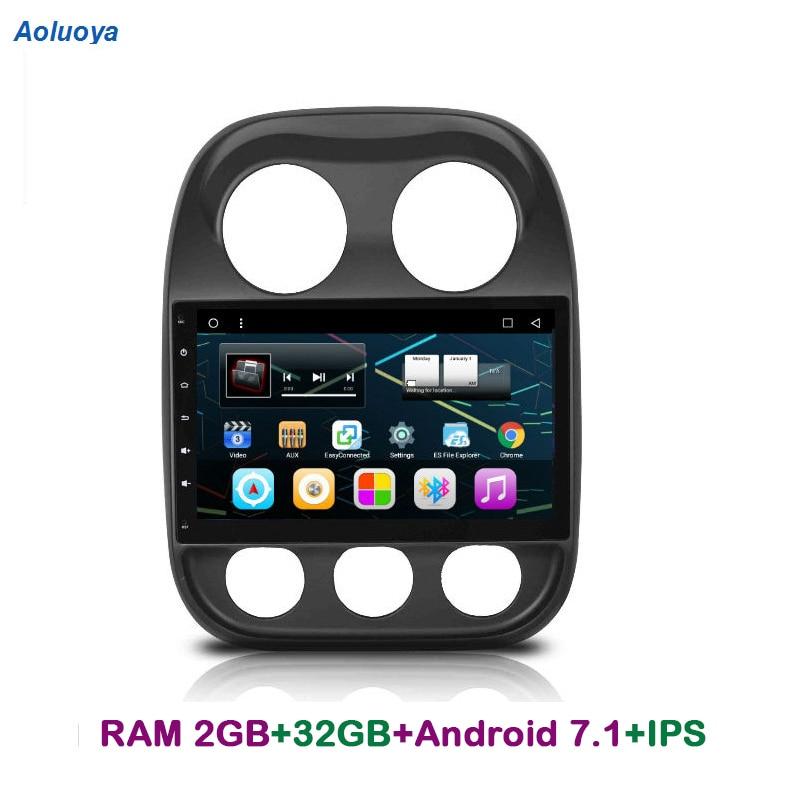 AOLuoya IPS RAM 2 GB + 32 GB Android 6.0 AUTO DVD GPS-navigatie Voor - Auto-elektronica