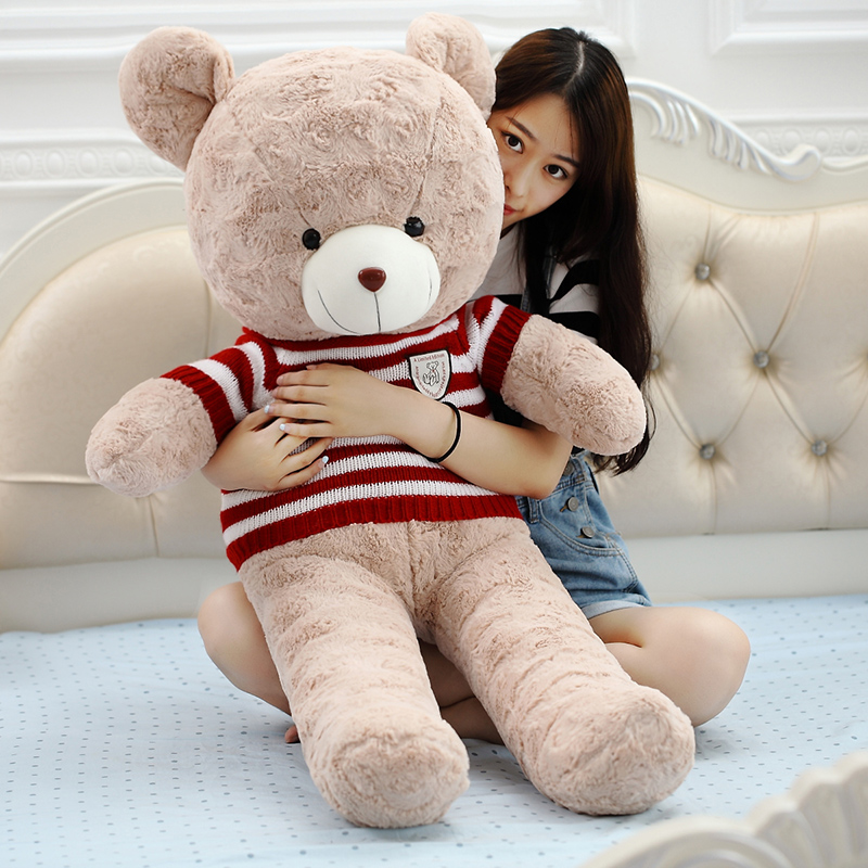 Kawaii big size Teddy bear Plush kids toys High quality soft stuffed dolls 60cm 80cm 100cm