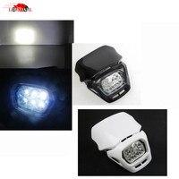 New White Black 18W Plastic Motocross Street Enduro Supermoto Front Headlight Fairing For Dual Sport Dirtbike