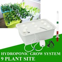 9 Holes Plant Hydroponic kit Garden Pots Planters System Indoor Cabinet Soilless Cultivation Box Seedling Grow Kit Nursery Pots