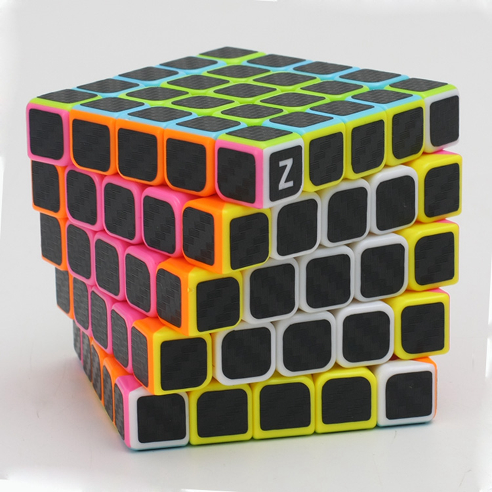 Zcube Black Carbon Fiber Sticker 5x5 62mm Speed Magic Cube - Spel och pussel - Foto 6