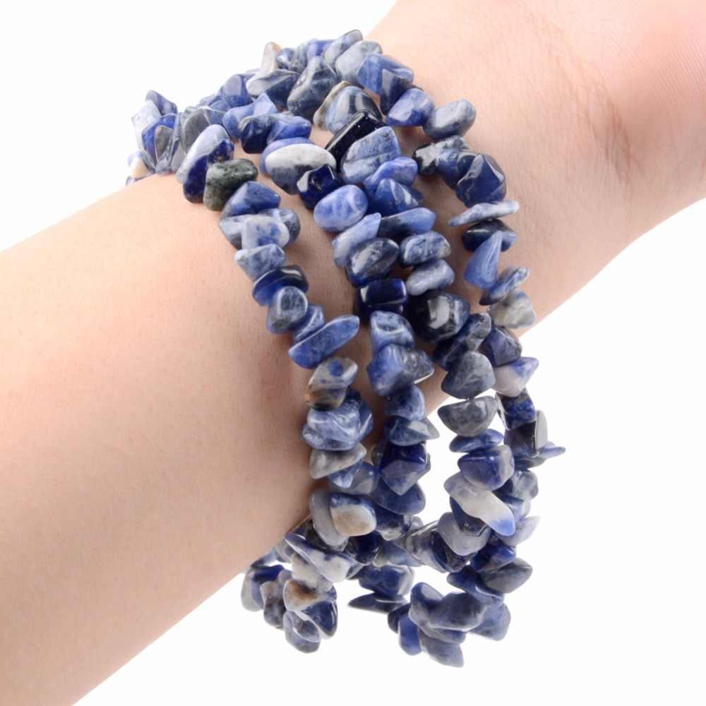 """סיטונאי 5-8 מ""""מ סדיר חצץ חרוזים טבעי אבן חרוזים כחול Sodalite שבבי חרוזים עבור תכשיטי ביצוע צמיד תכשיטים"""