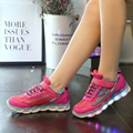 Casual Marquee USB Colorful Lights Shoes New Kids Led Sport Running Shoe For Girls Luminous   Children Hook &Loop Sneakers