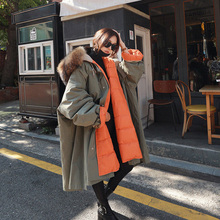 BIg Real Raccoon Fur 2020 New Long Down Parka Female Loose Warm Plus Size Coat H