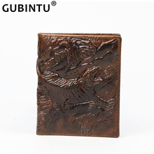 Oil Wax Leather Men Wallets Vintage Genuine Wallet for Top Cow Thin Billfold Short Male Purse New Money Bag