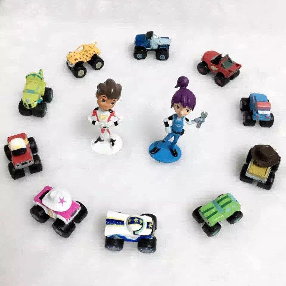 12 Stks/set 3-6 Cm Anime Figuur Blaze Cartoon Model Monster Machines Action Figure Kinderen Speelgoed Verjaardagscadeautjes We Hebben Lof Van Klanten Verdiend