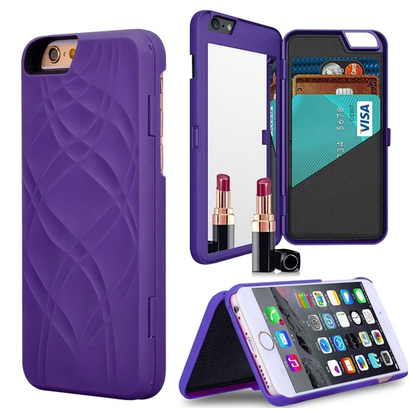 Fashion korean brand girls makeup mirror case for coque for Coque iphone 5 miroir