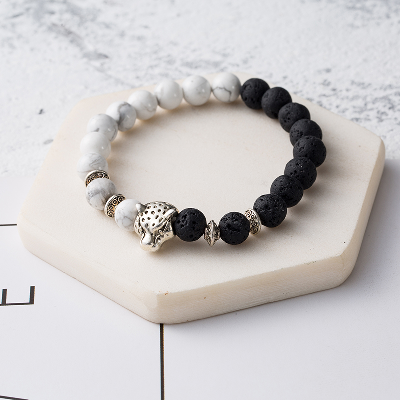 Natural Stone Beads Tiger Leopard Bracelets