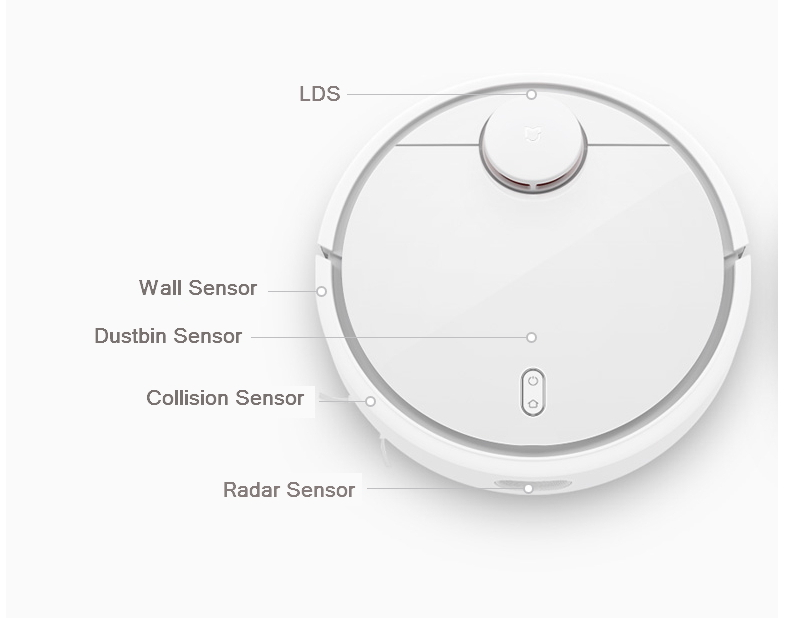 Originalxiaomi mi Robot Vacuum Cleaner MI HOME Planned Type ASPIRADOR, LDS Scan Mapping WiFi app Control S Path Cleaning