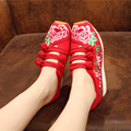 2016 new old Beijing shoes embroidered shoes women Mary Jane ethnic style flat shoes high quality