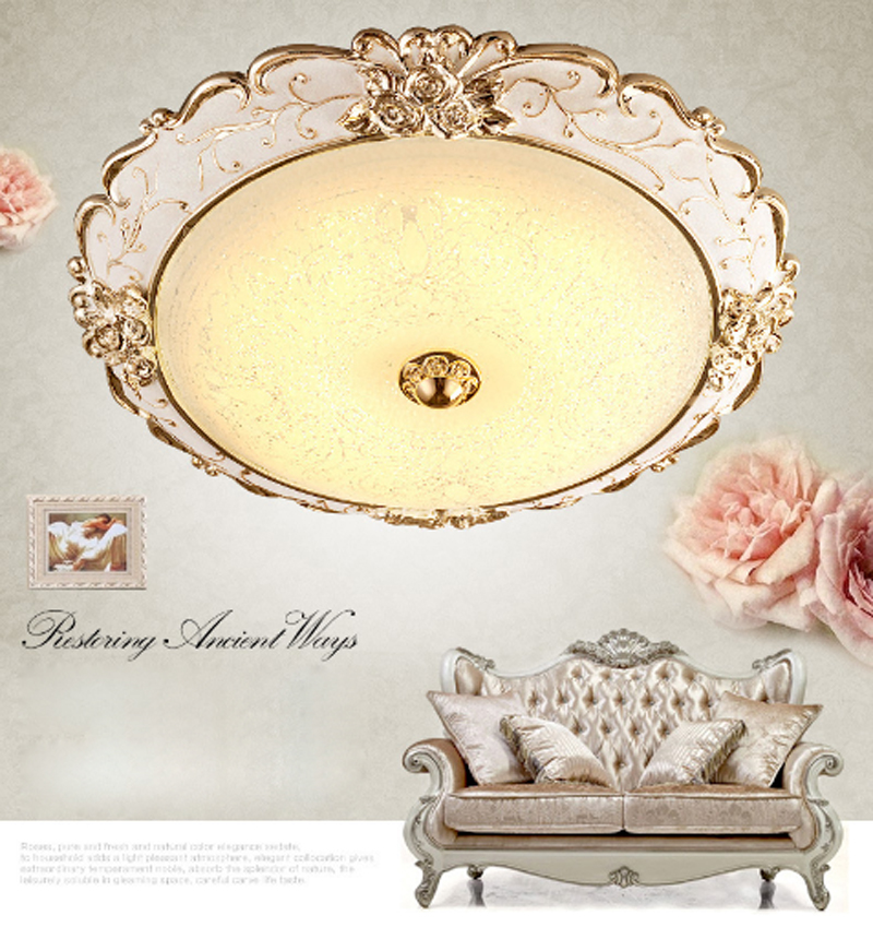 European luxury style rose carved glass ceiling lamp classic retro living room decoration LED patch lighting circular golden traditional crystal lamp golden circular living room lamp lighting luxury bedroom lamp led patch ceiling lights lmy 080