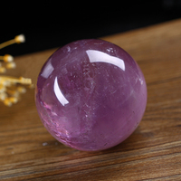 55 mm natural purple crystal the crystal ball ball to heal