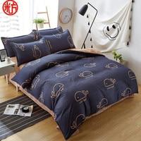 2019 nova folha  pillwocase & conjunto de cama capa de edredão set BALEIA pinheiro cama conjunto roupa de cama preto e branco conjunto de cama em casa por atacado|whale bedding set|whale beddingbed linen set -