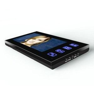 Image 4 - Système dinterphone vidéo avec écran Lcd 7 pouces, écran tactile, système dinterphone RFID pour mot de passe, déverrouillage électrique, télécommande sans fil