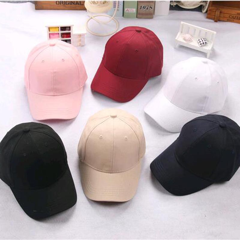 2017 Spring summer Children's hats baby crothet baseball cap solid cap kids peaked all match leisure outdoor sun hat 6 colors
