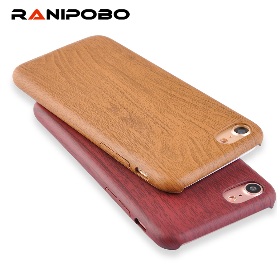 Classical Retro Wood Grain Phone Case For iPhone 7 6 6s Plus Ultraslim Simple Soft TPU Back Cover Mobile Phone Bags & Cases Capa