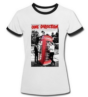 ONE DIRECTION LOGO VOGUE Women's Tshirt Summer Ringer Shorts Tops Fashion Design Printed Cotton Tee Shirts For Music Fans XS-2XL