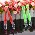 Safety Temperature Sensing Spoon Baby Flatware Feeding Spoons infant kids Weaning Head Tableware silicone Spoon 2016 NEW 15.5 cm