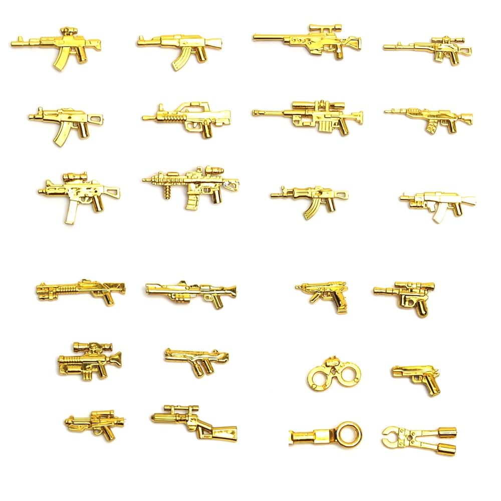 moc Arms Weapon Military Building Blocks gun swat police Shotgun weapons army City Police minifigures Brick legoes